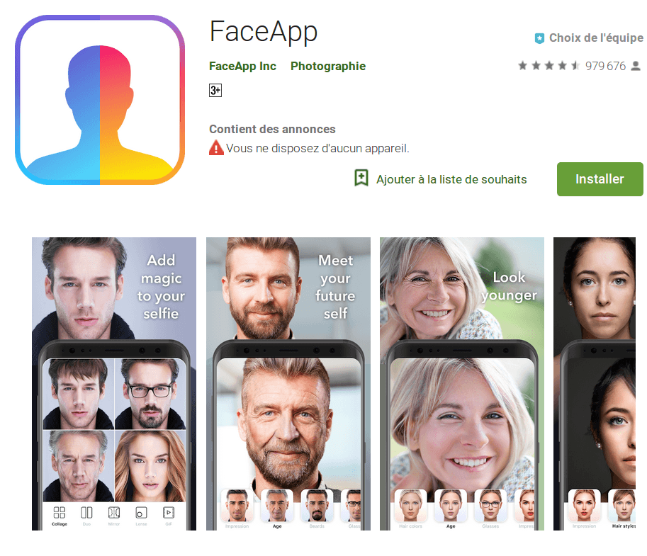 FaceApp pour perfectionner sa photo de CV